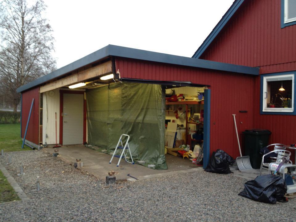 bygga ut befintligt garage
